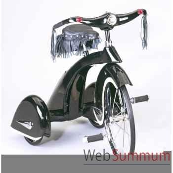 Vélo trike rétro en métal à pédales noir hog AF-010