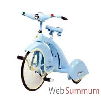 Vélo trike rétro en métal à pédales bleu sky king AF-011