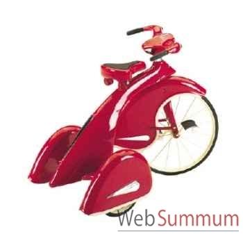 Vélo trike rétro en métal à pédales rouge sky king AF-013