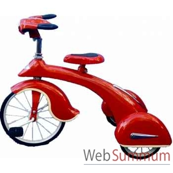 Vélo trike rétro en métal à pédales rouge junior sky king AF-014