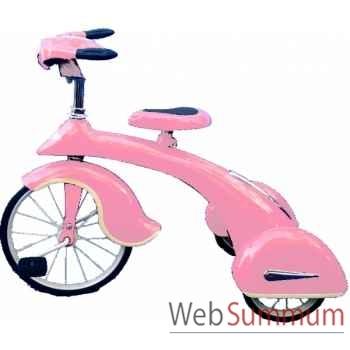 Vélo trike rétro en métal à pédales rose junior sky king AF-015