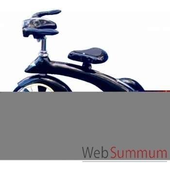 Vélo trike rétro en métal à pédales noir junior sky king AF-016