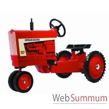 Tracteur à pédales en métal rouge farmall 826 golden DD-008