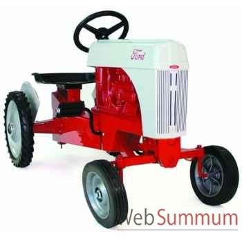 Tracteur à pédales en métal rouge et gris ford DD-011