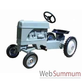Tracteur à pédales en métal gris fergie DD-012