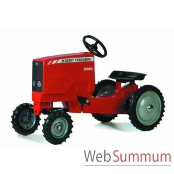 Tracteur à pédales en métal rouge massey ferguson 6480 DD-013