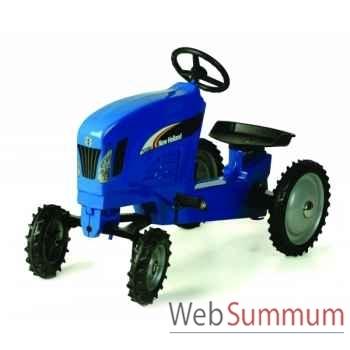 Tracteur à pédales en métal bleu new holland tc330 DD-014