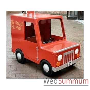 Camion van à pédales poste grand modèle postman pat licence exclusive LP-003