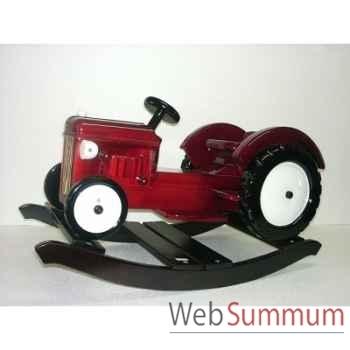 Tracteur à bascule en bois rouge Z087