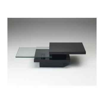 Les independants - table basse rectangulaire pivotante 2 plateaux en mdf - noir MINI