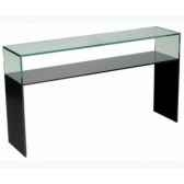 color console en verre trempe ep12mm 100x30 colconso100