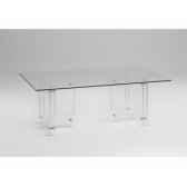 les invisibles table repas avec 2 pietements en pmma ep15mm mh34