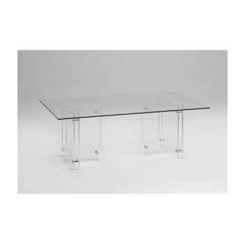 Les invisibles - table repas avec 2 piètements en pmma ép.15mm  MH34