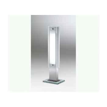 La boutique - lampe fusion à poser en inox et verre ampoule g11 - 24 watts LF53