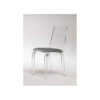 Les invisibles - chaise pmma ép.12mm 41x47 ht89cm assise tissu artigny MG14