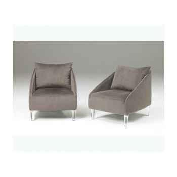 Les indépendants - fauteuil acier laqué - coussin rouge TAGA