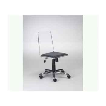 Les indépendants - chaise dactylo en pmma artigny sur roulettes MG15