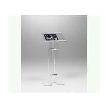 Les invisibles - lutrin repose document en pmma et tubes aluminium ht 110cm MLUTRIN