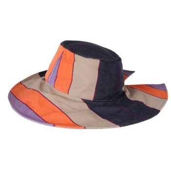 Chapeau capeline tissus Artiga toile Saubusse