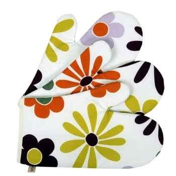 Lot de 2 moufles tissus Artiga toile fleuri misson