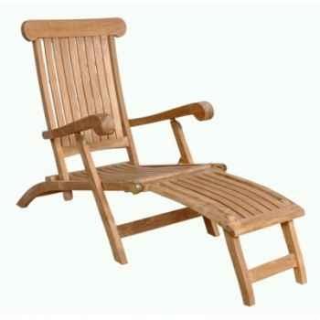 Chaise longue deauville en teck naturel 60-050