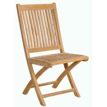 Chaise borneo en teck naturel 60-003