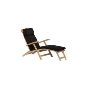 Matelas chaise longue noir 62-626