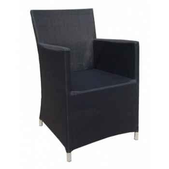 Fauteuil riano textilène noir en textilène noir 69-1401