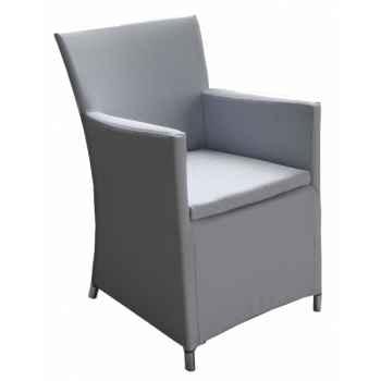 Fauteuil riano textilène gris en textilène gris 69-1402