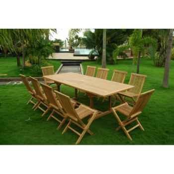 Table galapagos 100 cm en teck naturel 60-027