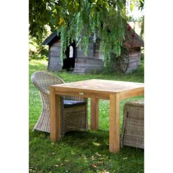 Table nassau 90 cm en teck naturel 60-031A