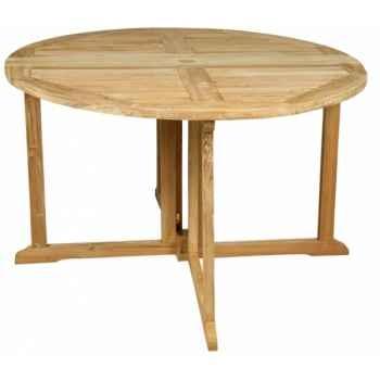 Table nassau 110 cm en teck naturel 60-035