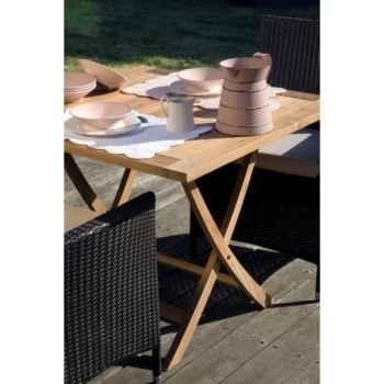 Table wexford pliante carrée 90 en teck naturel 60-040