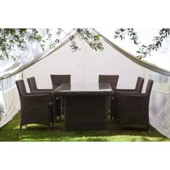 Tente pliante 3x6m en polypropylene blanc 84-800-4