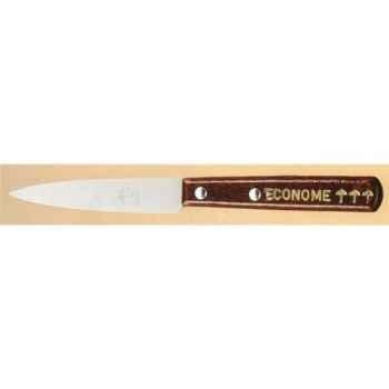 L'econome lot de 24 couteaux  office manche bois vernis 376500