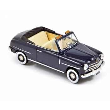 Fiat 1400 cabriolet 1950 - blue  Norev 770073