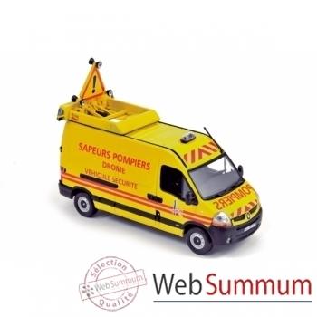 """Renault master 2008 - """" pompiers véhicule balisage sécurité """" Norev 518763"""