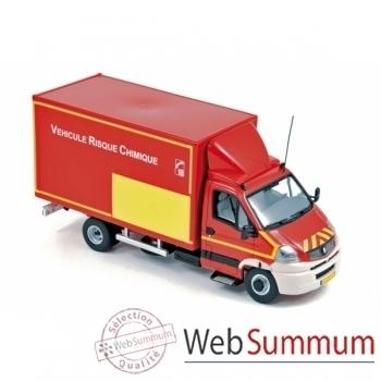 """Renault mascott 2009 - """" pompiers véhicule risques chimiques """"  Norev 518444"""