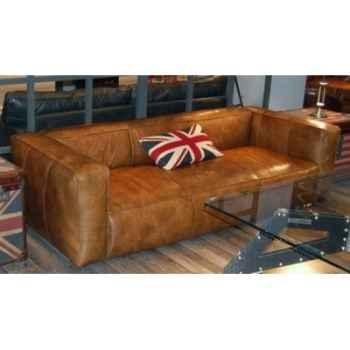 Canapé tribeca en cuir couleur soft cigare mou trois place h 670 x 2520 x 1000 Arteinmotion DIV-TRI0060