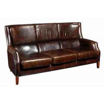 Canapé chelsea en cuir couleur cigare trois places h 1000x 1920 x 1000 Arteinmotion DIV-CHE0006