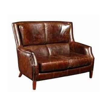 Canapé chelsea en cuir couleur cigare deux places h 1000 x 1370 x 1000 Arteinmotion DIV-CHE0005