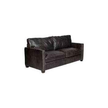 Canapé viscount en cuir couleur café deux places h 850 x 1830 x 1000 Arteinmotion DIV-VIS0019