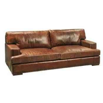 Canapé oslo en cuir couleur cigare trois place h 810 x 2140 x 1010 Arteinmotion DIV-OSL0057