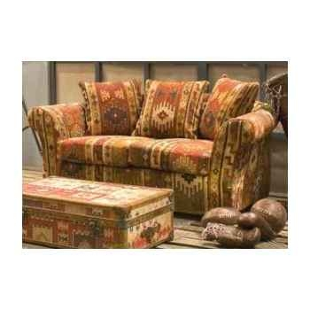 Canapé in kilim 2 places 3 coussins h 760 x 1750 x 920 Arteinmotion DIV-KIL0080