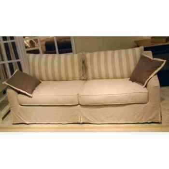 Canapé-lit provenza en tissu h 750 x 2050 x 900 Arteinmotion DIV-PRO0075