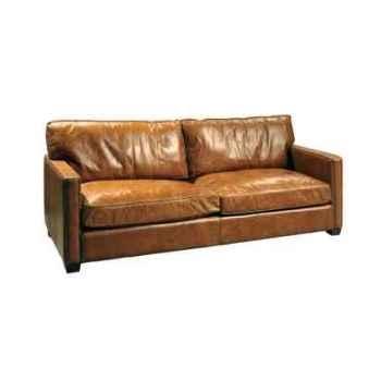 Canapé viscount en cuir 3 places couleur cognac h 850 x 2230 x 1000 arteinmotion DIV-VIS0068
