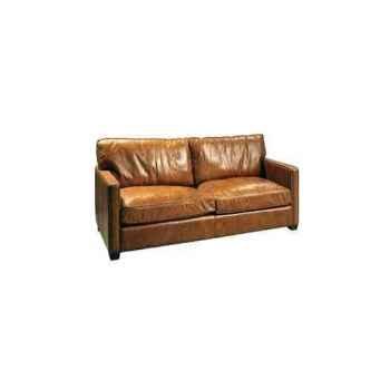 Canapé viscount en cuir 2 places couleur cognac h 850 x 1830 x 1000 arteinmotion DIV-VIS0085
