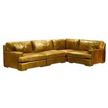 Canapé d\'angle oslo en cuir couleur cognac h 810 x 3000 x 2000 arteinmotion DIV-OSL0083