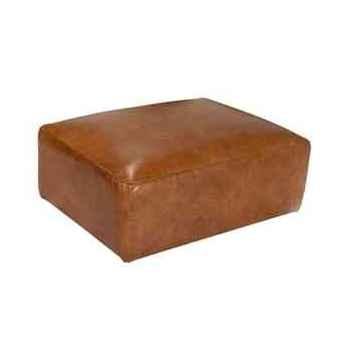 Repose-pieds tribeca en cuir couleur cognac h 440 x 950 x 720 arteinmotion POG-TRI0022