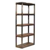 bibliotheque en bois recycle et fer h 2000 x 900 x 400 arteinmotion lib leg0017